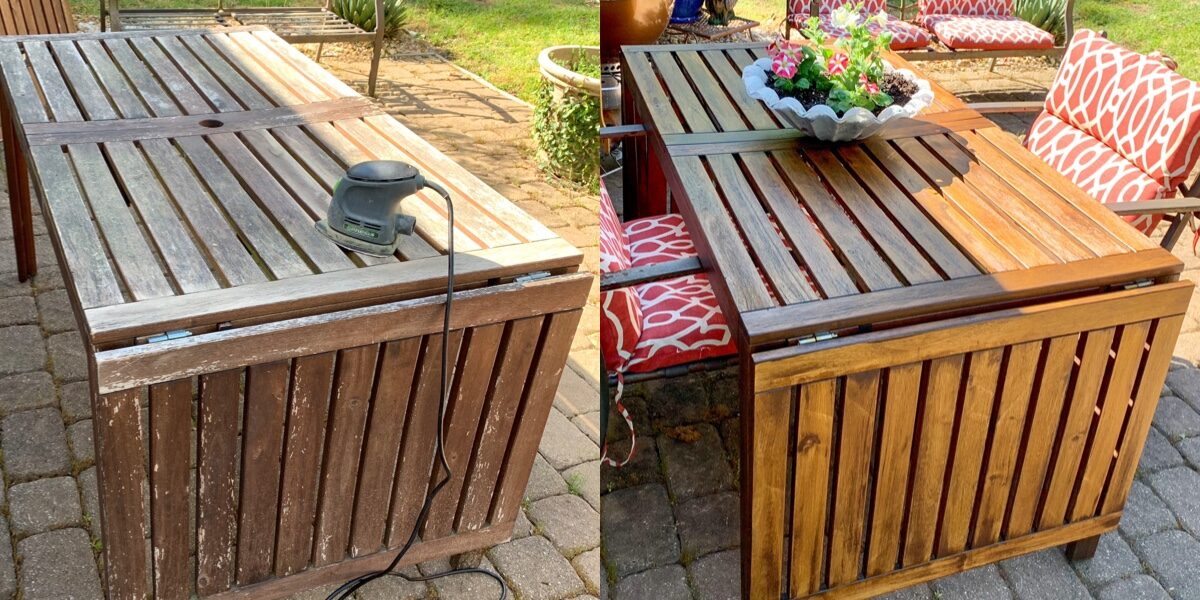 How to Refinish Outdoor Wood Furniture in 2 Easy Steps [2021 Update!] 1