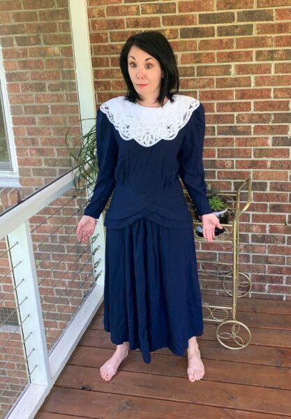 '90s Kathie Lee Dress Before Refashion