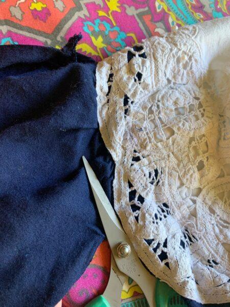 removing sleeves near collar