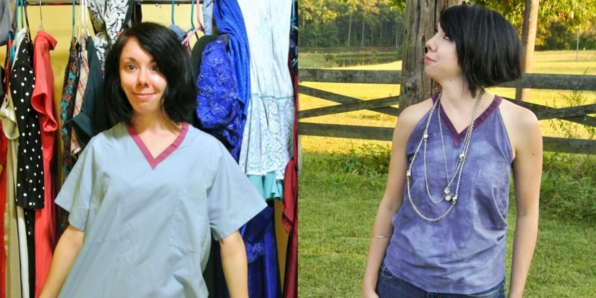 How to Upcycle a Scrub Top 4