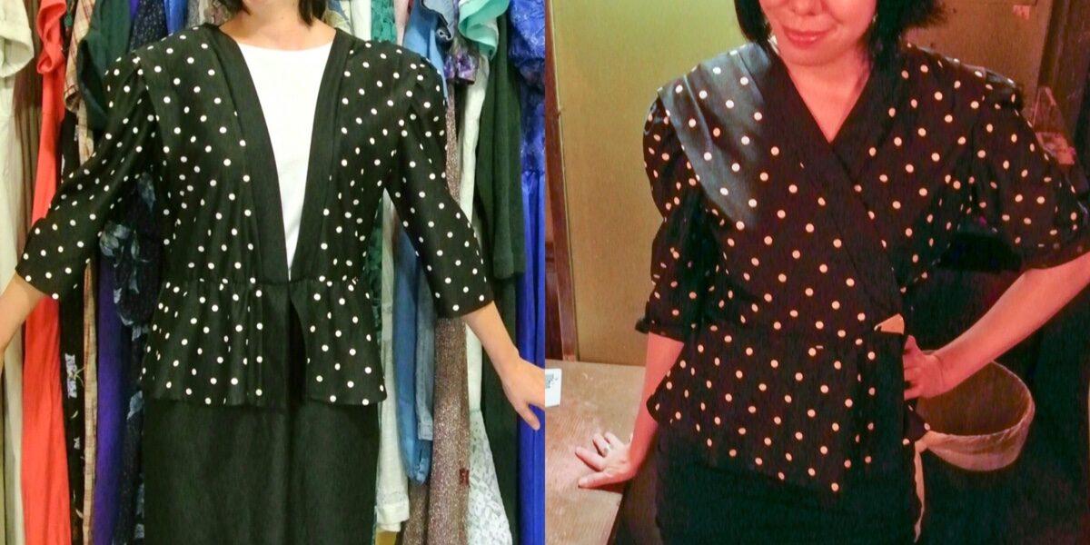 A New-Sew Dress to Peplum Top Refashion 4