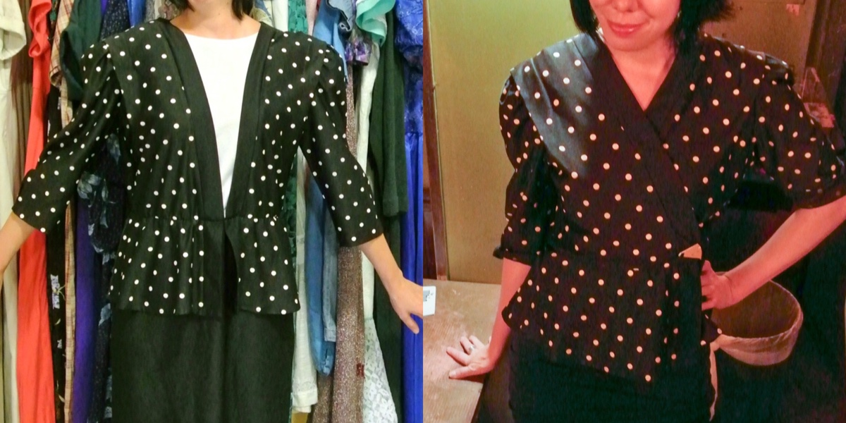 A New-Sew Dress to Peplum Top Refashion 1