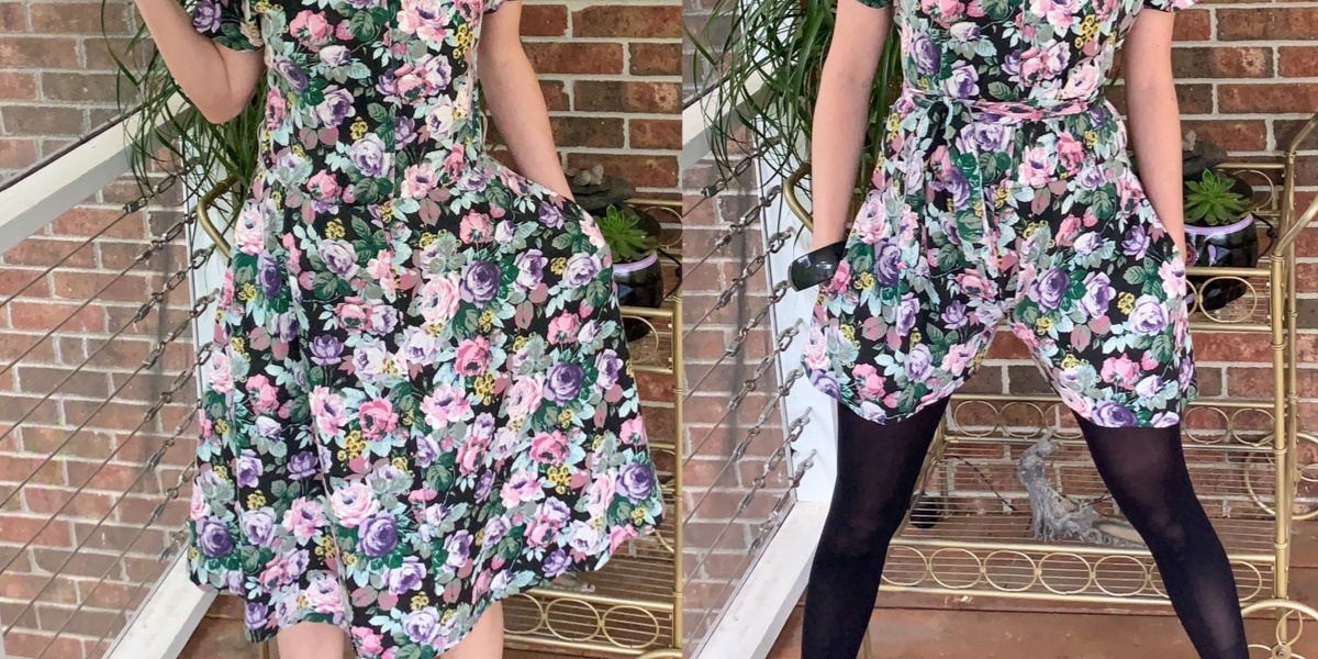 Easy DIY Romper (from an Old Dress!) 1