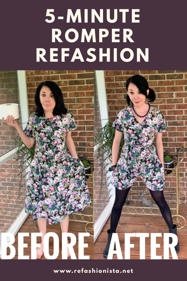 Easy DIY Romper (from an Old Dress!) 2