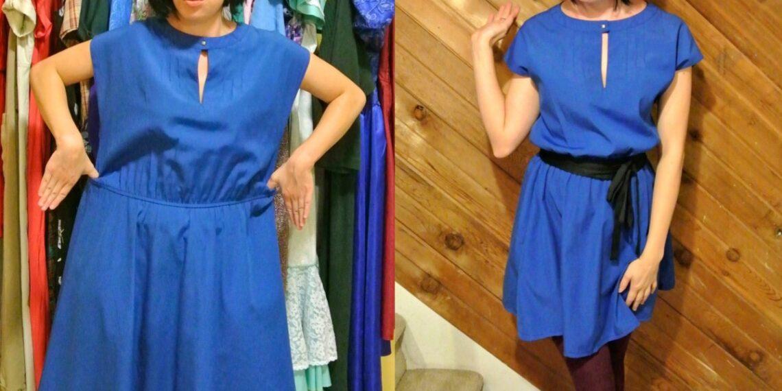 A New Blue Dress Refashion 1