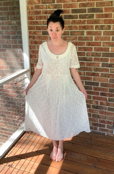 how to dye lace dress before