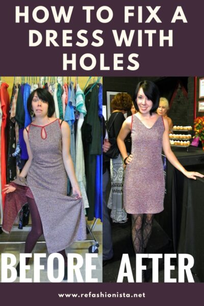 How to Fix a Dress with Holes