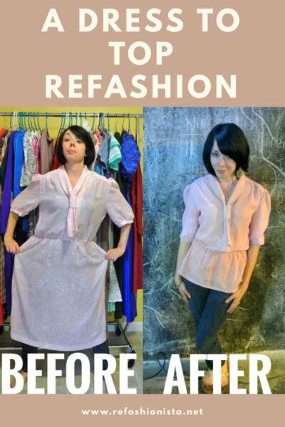 Dress to Top Refashion