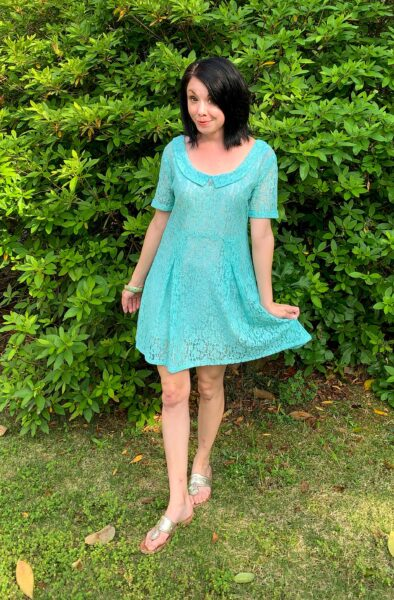How to dye a lace dress refashion after