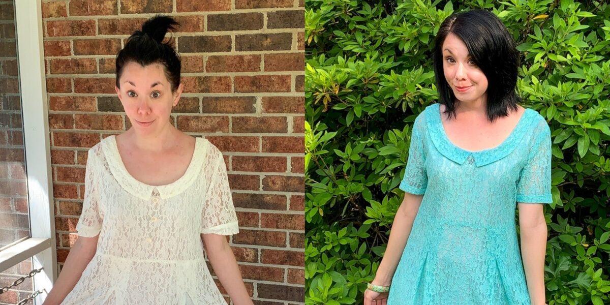 How to Dye & Refashion a Lace Dress 2