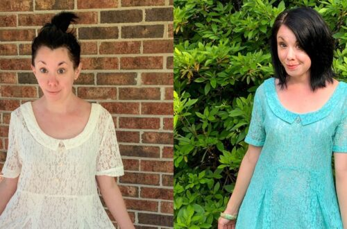 How to Dye & Refashion a Lace Dress 5