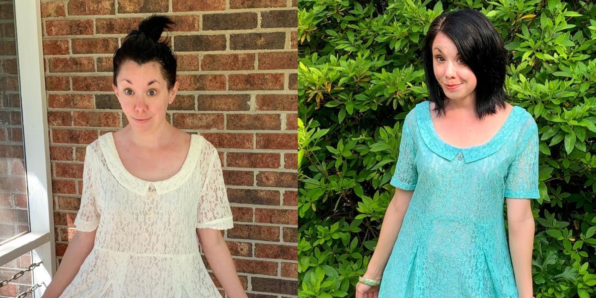 How to Dye & Refashion a Lace Dress 1