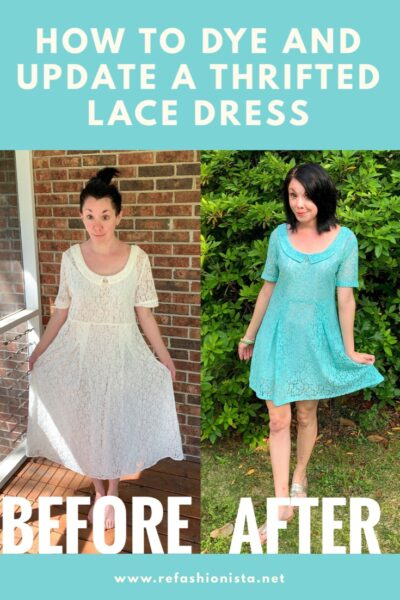 How to dye a lace dress pin