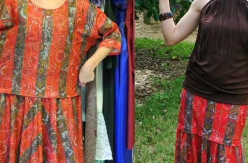 An Easy Dress to Skirt Refashion 15