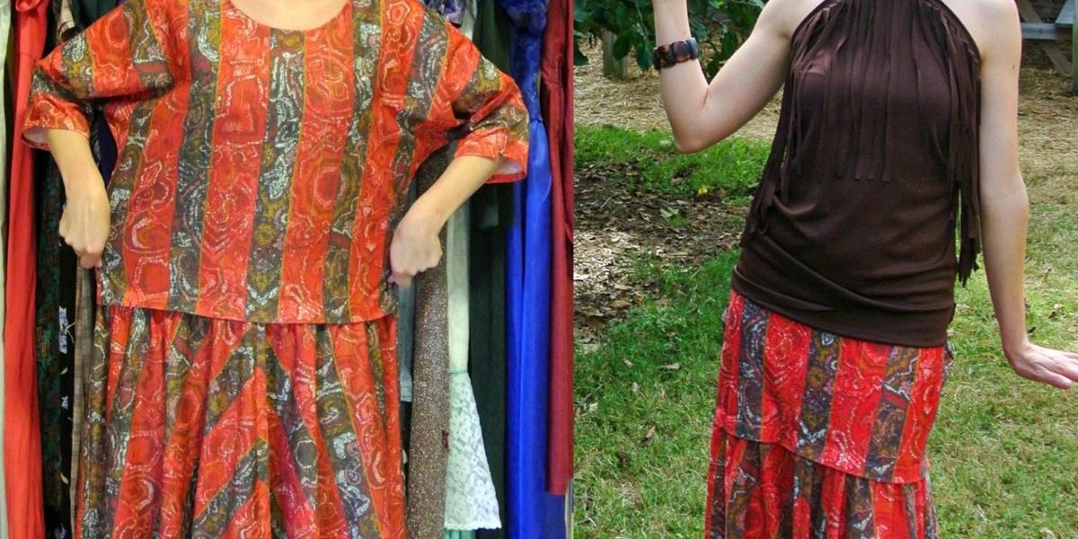 Easy Dress to Maxi Skirt Refashion 1