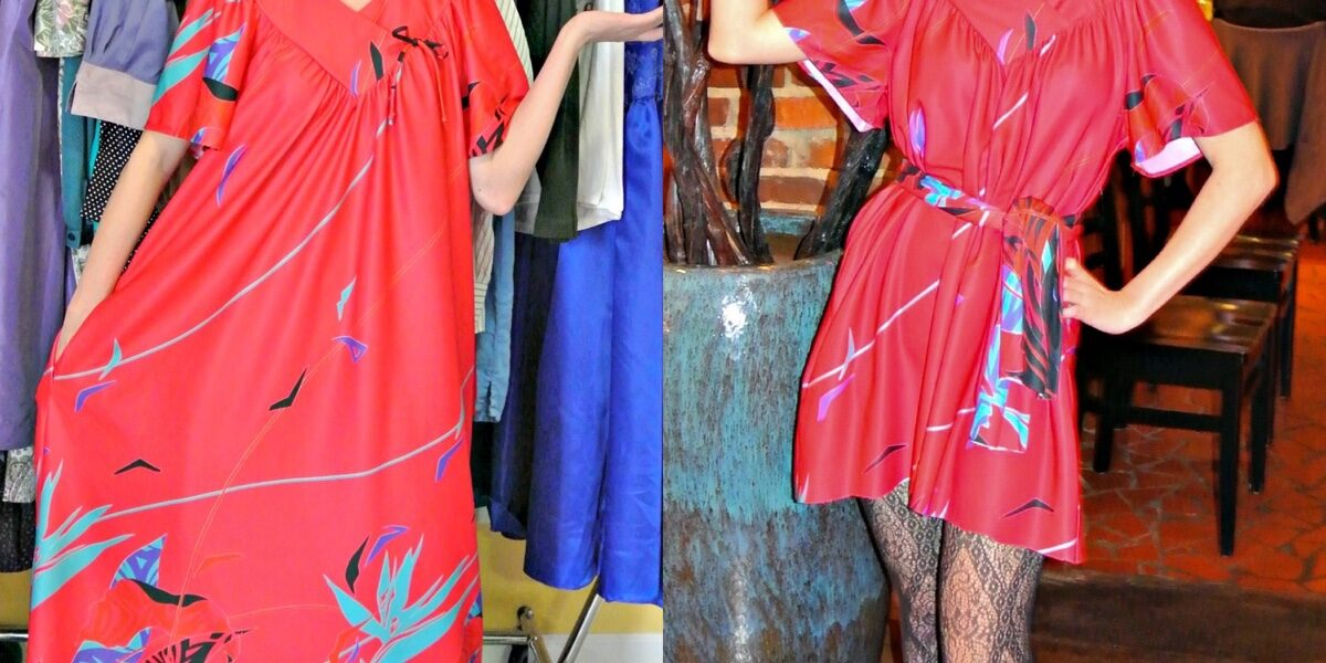 December in the South: A Muumuu to Dress Refashion 3