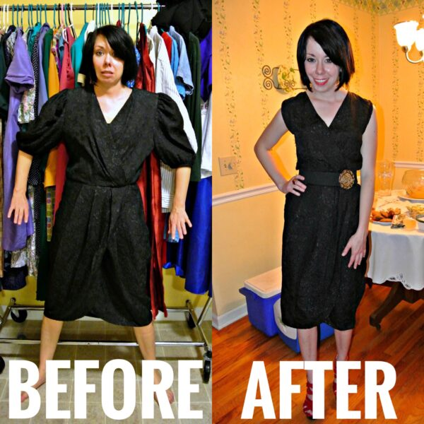 refashionista 80s dress refashion before and after