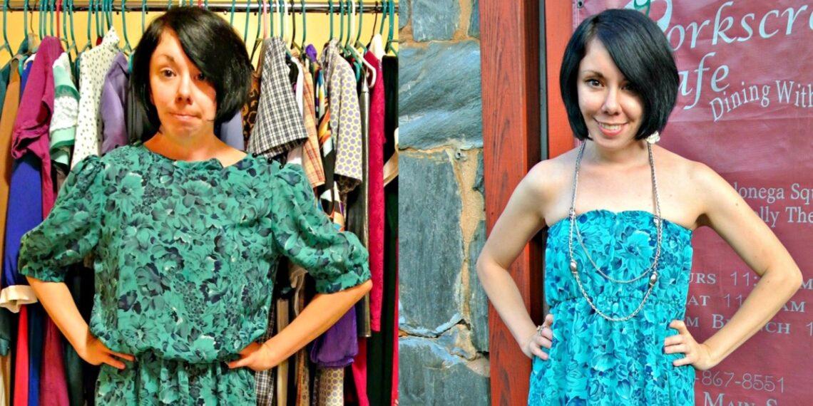 A DIY Strapless Dress Refashion 3