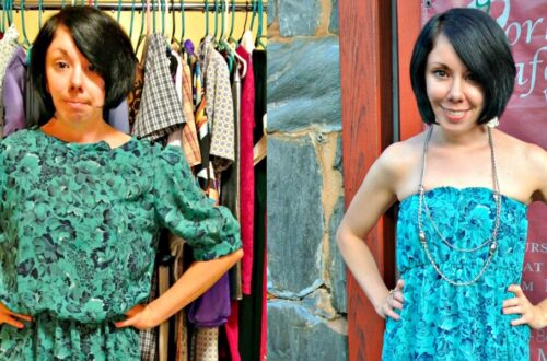 A DIY Strapless Dress Refashion 6