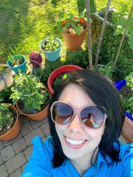 patio garden selfie