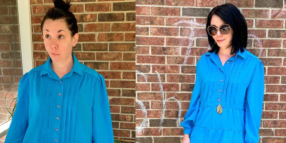 DIY Tiered Dress Refashion (Without a Pattern!) 1