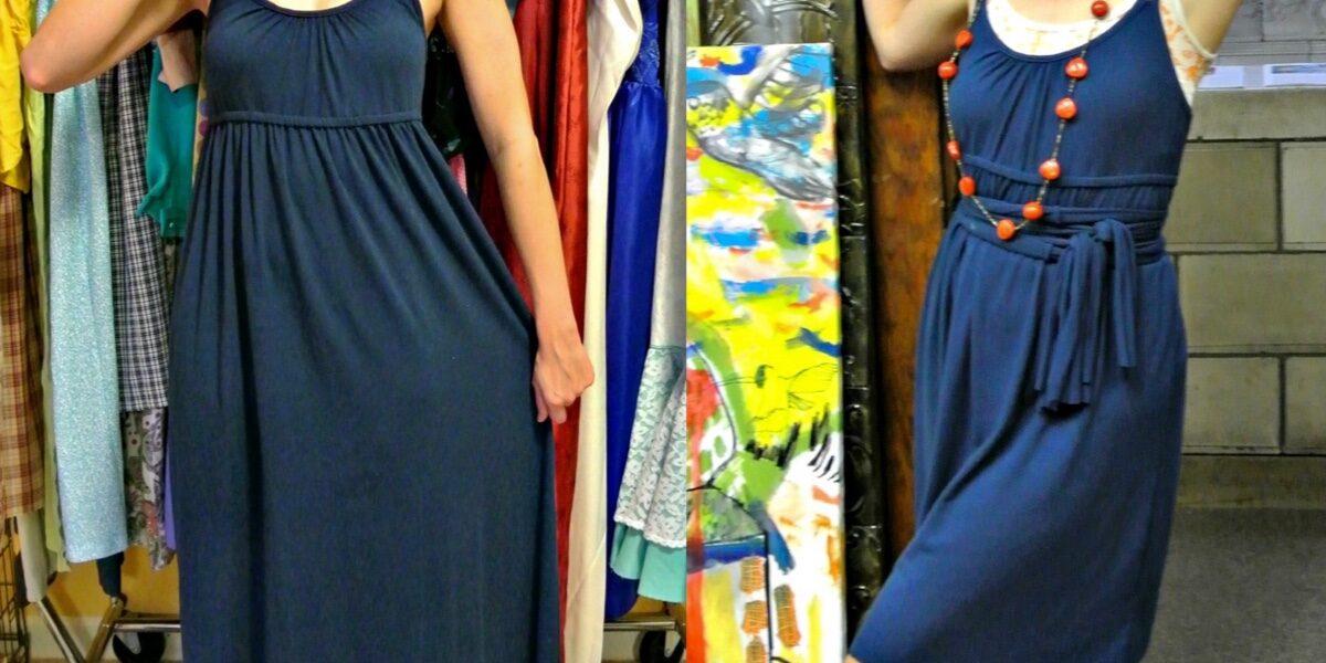 A No-Sew Jersey Maxi Dress Refashion 7