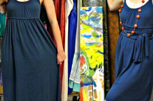 A No-Sew Jersey Maxi Dress Refashion 5