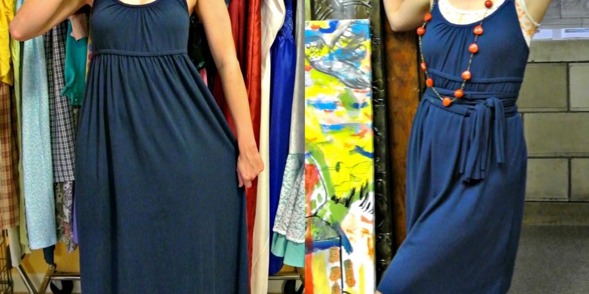A No-Sew Jersey Maxi Dress Refashion 1