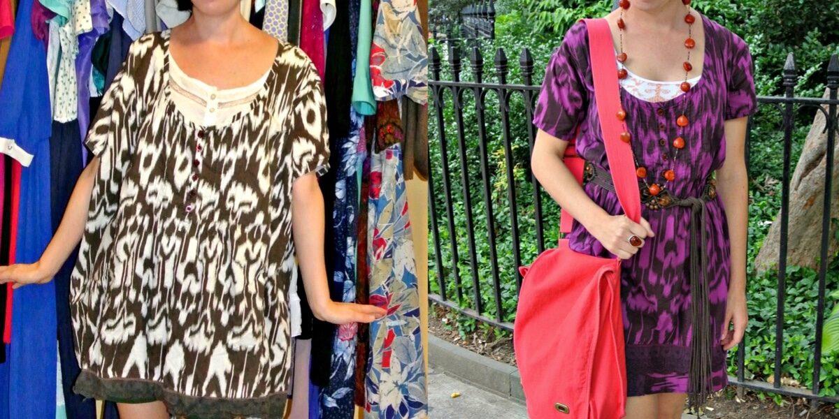 Shirt to Dress Refashion: As Seen on Good Morning America! 2