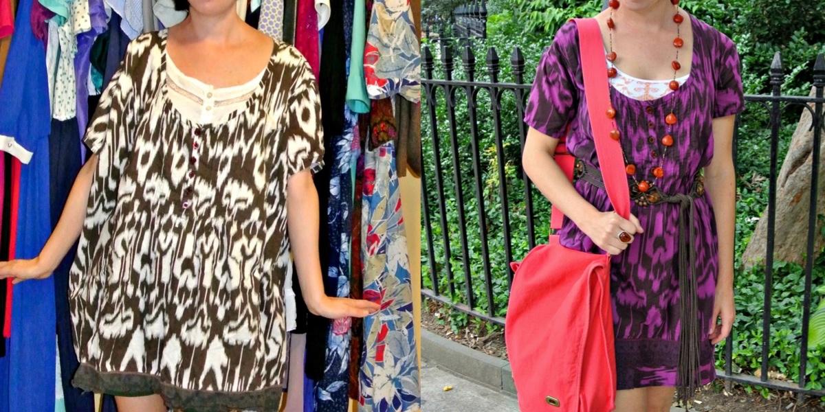 Shirt to Dress Refashion: As Seen on Good Morning America! 1