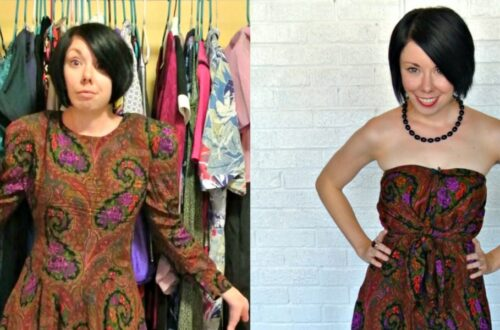 A Too Darn Hot No-Sew Dress Refashion 16