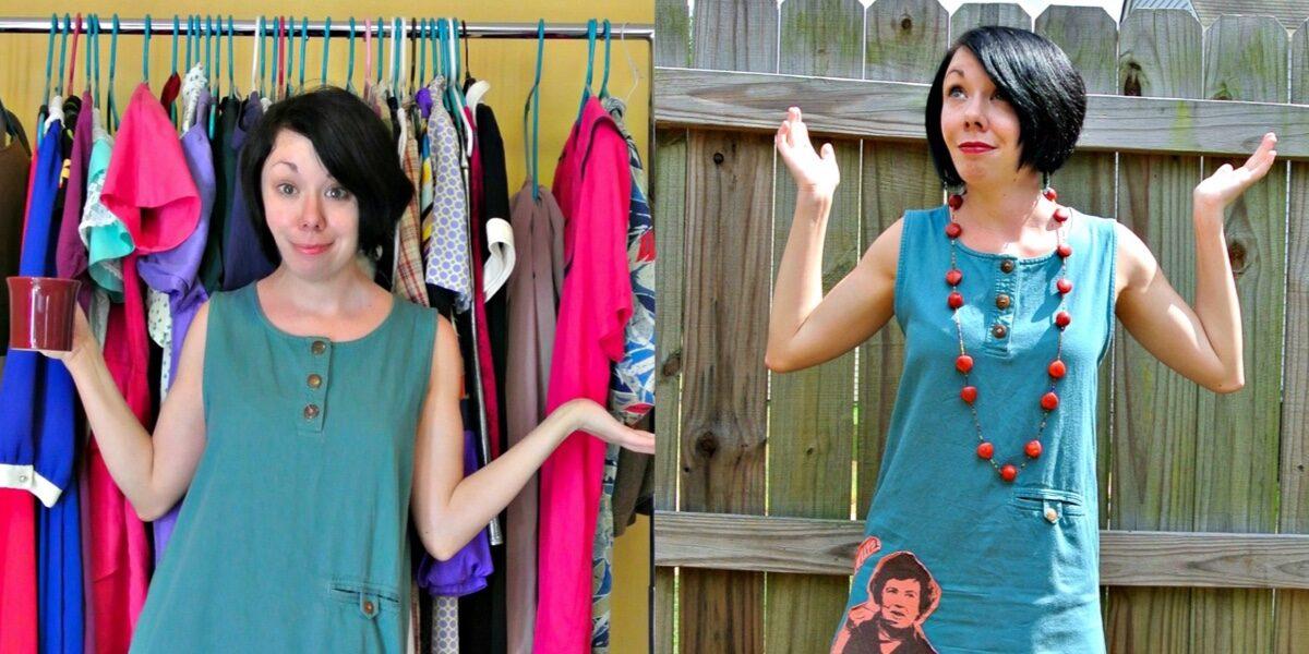 What Would Julia Do? A T-Shirt Appliqué Dress Refashion 1