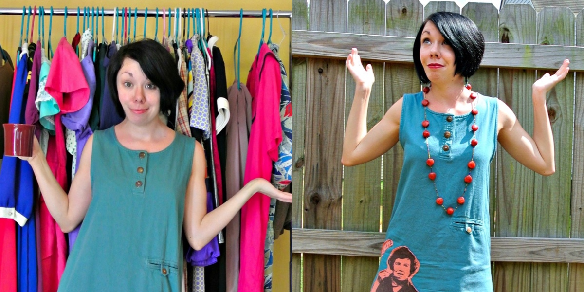 What Would Julia Do? A T-Shirt Appliqué Dress Refashion 1