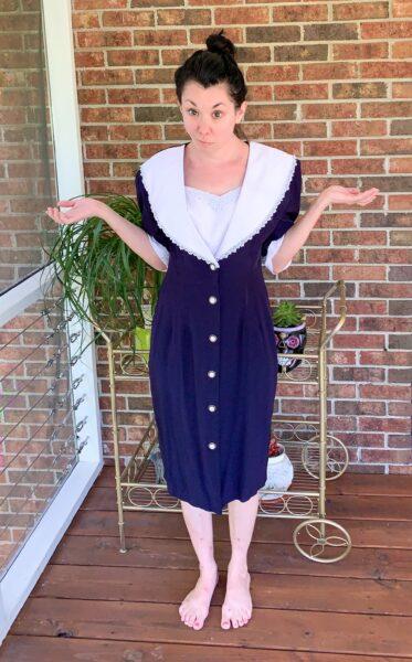 Refashionista Thrift Store Dress Refashion Before