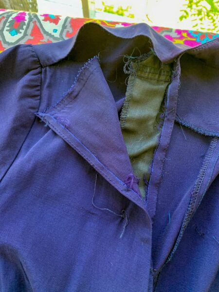 raw seams on dress