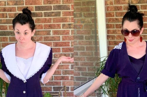 Refashioning a Collared Thrift Store Dress 5