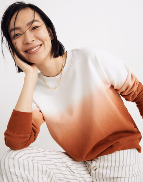 madewell dip dyed sweater inspiration