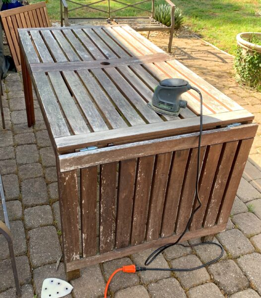 refinishing old outdoor table