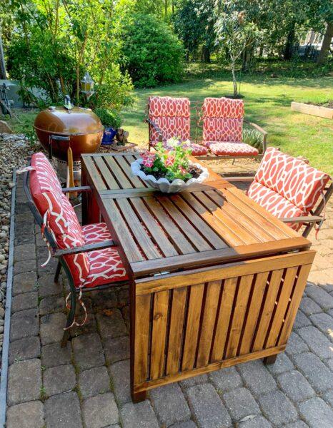 restored outdoor furniture