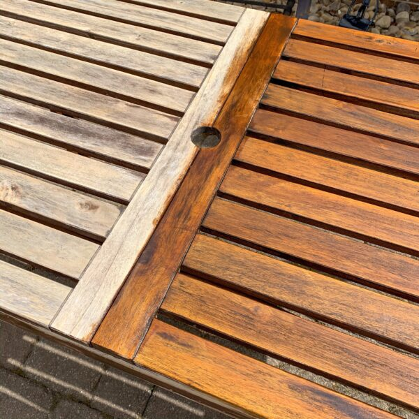 staining outdoor table