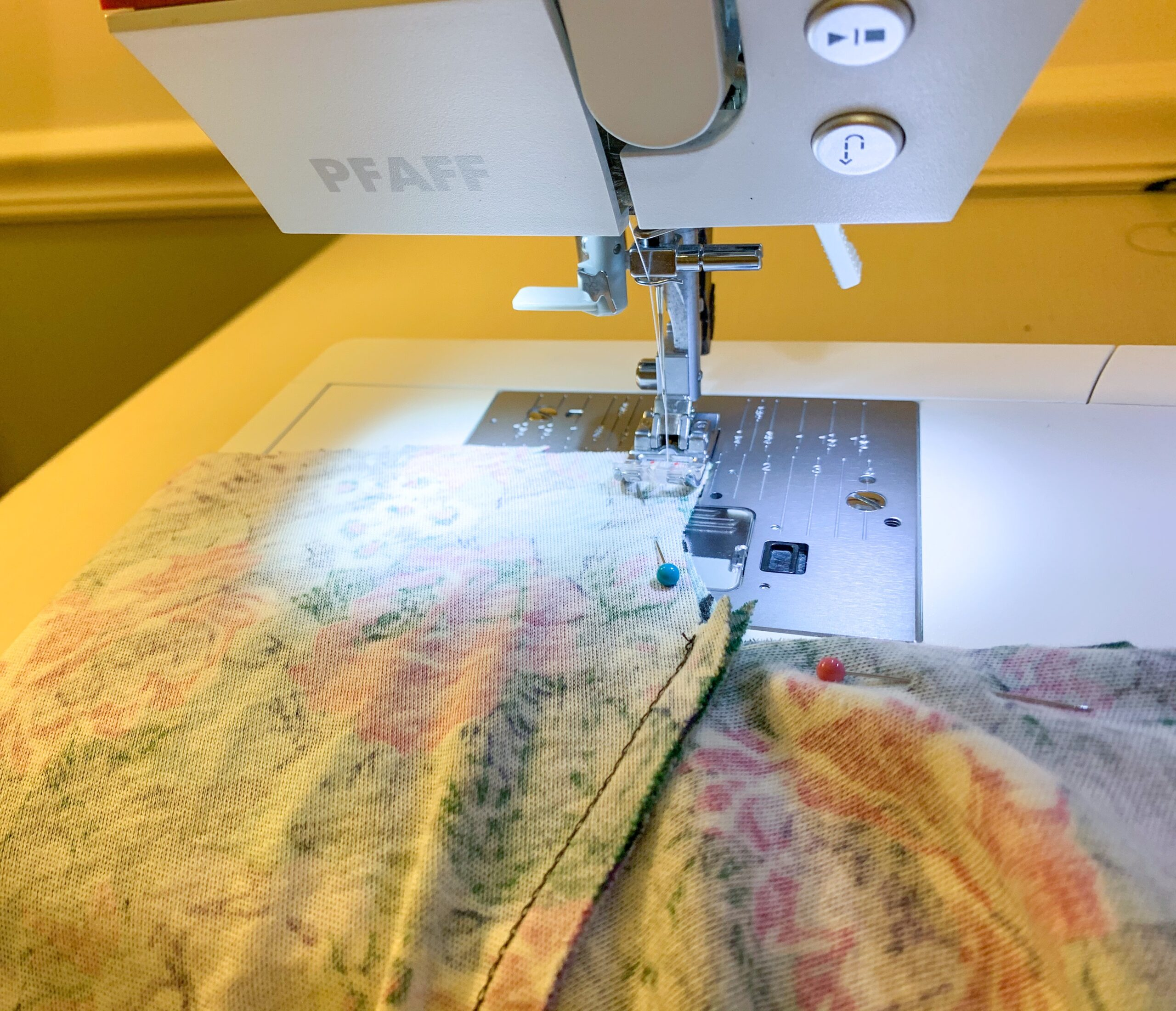 stitching crotch for romper