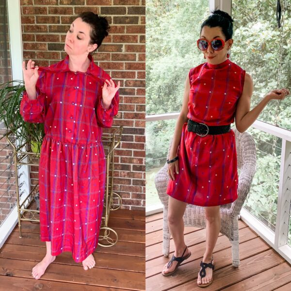 How to Refashion a Dress to be Worn Backwards 1