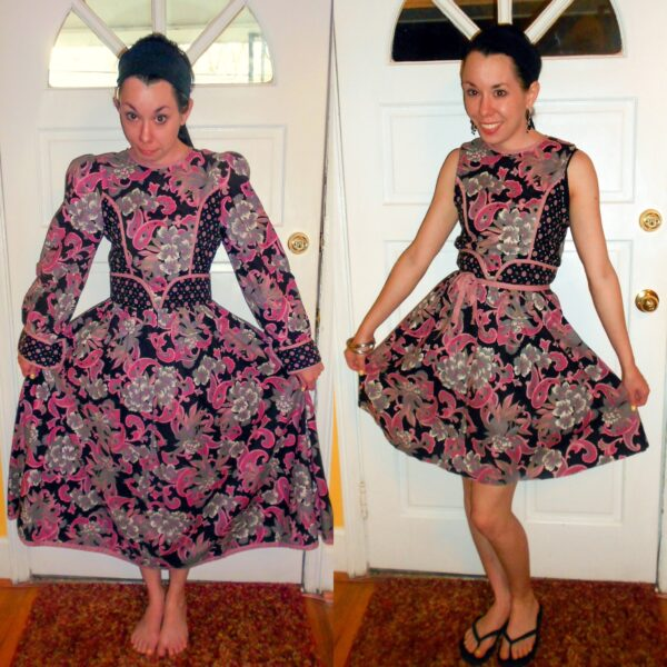 Day 258:  Ashes of Roses: Refashioning a Thrift Store Dress 6