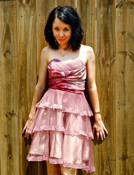 refashionista wedding dress refashion after