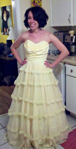wedding dress refashion before