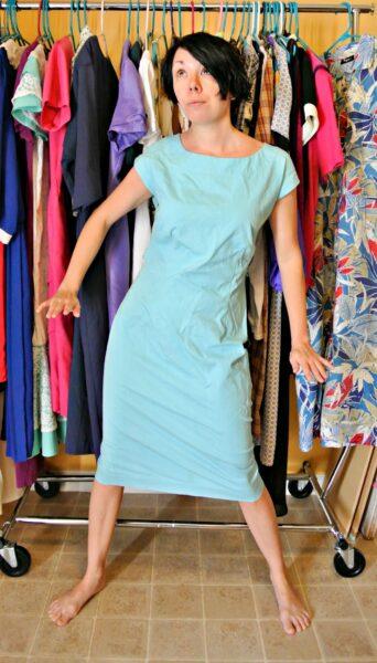 refashionista dip dye dress before