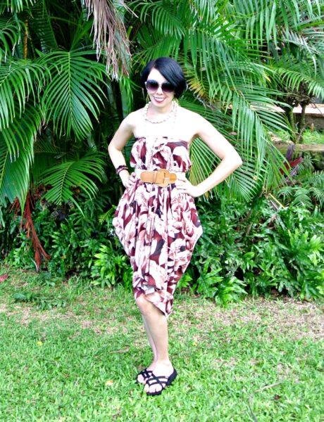 No Sew Hawaiian Shirt to Dress Refashion After
