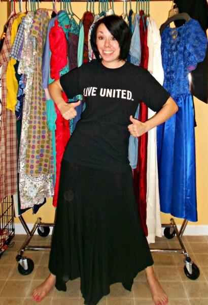 united way tshirt before refashion