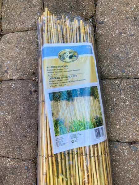 roll of reed fencing