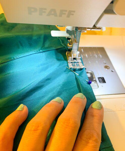 stitching hem for refashion